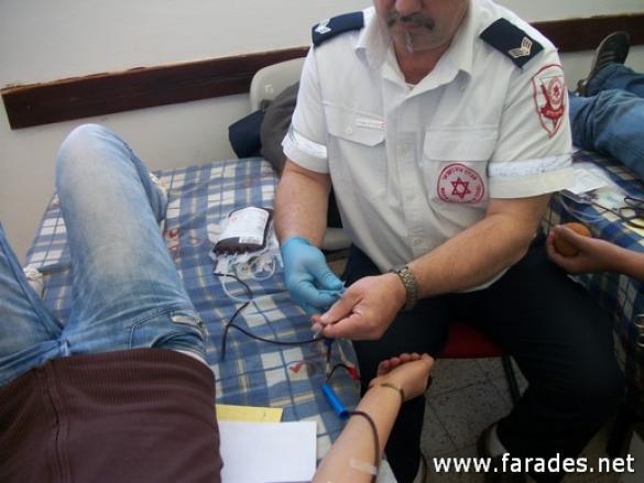 نجمة داوود الحمراء: تنظيم حملة للتبرع في الدم في الفريديس