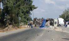 3 مصابين بحادث بين شاحنتين على شارع 4 قرب الفريديس