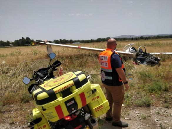 فيديو: مصرع شخص (50 عاما) وإصابة آخر في تحطّم طائرة في مجيدو