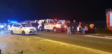 إصابة 4 أشخاص بحادث طرق عند مدخل الفريديس الشمالي