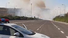إندلاع حريق كبير قرب مدخل الفريديس الشرقي
