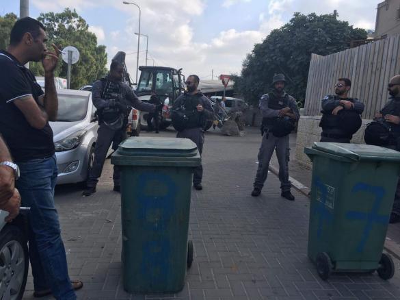 قوات كبيرة للشرطة في الفريديس لتنفيذ أوامر هدم