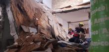 صور: إنهيار سقف منزل في جسر الزرقاء