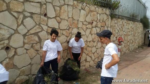 بالصور: يوم  تطوع  في مدرسة النجاح عتيد التكنولوجية الفريديس