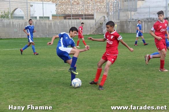 صور من مباراة فريق هبوعيل الفريديس للصغار أمام مكابي جت