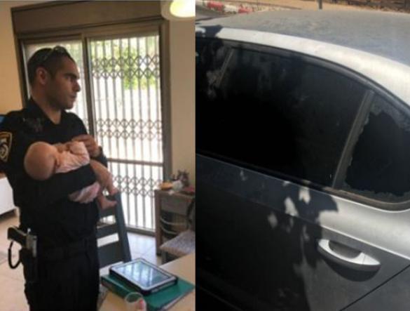 إنقاذ طفلة رضيعة علقت داخل سيارة في بنيامينا