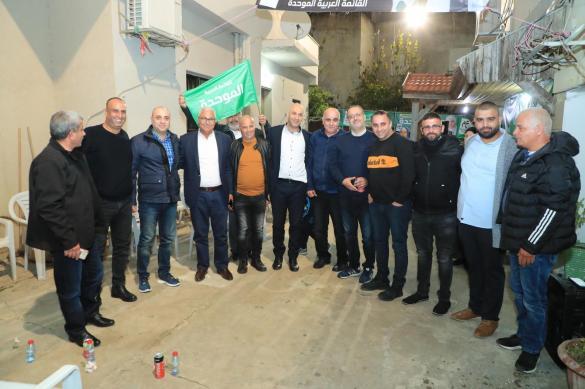اجتماع انتخابي للموحدة في إكسال بمشاركة عضو المجلس المحلي باسل عبد الوهاب دراوشة الذي أعلن دعمه للموحدة