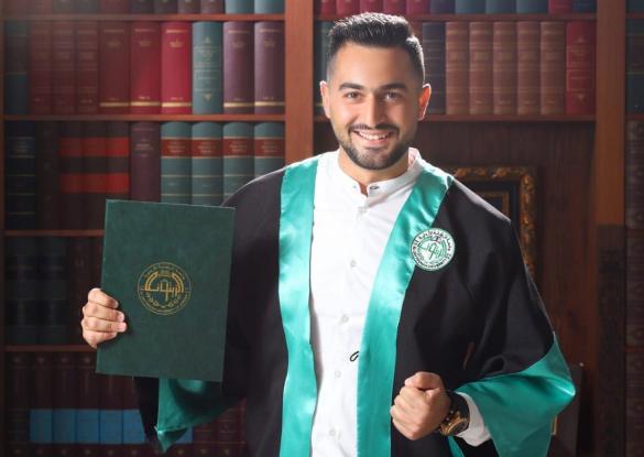 """تهنئة إلى الأخ الغالي """"علي خالد حسينية"""" بمناسبة تخرجه بنجاح من جامعة الزيتونة الأردنية بموضوع التمريض"""