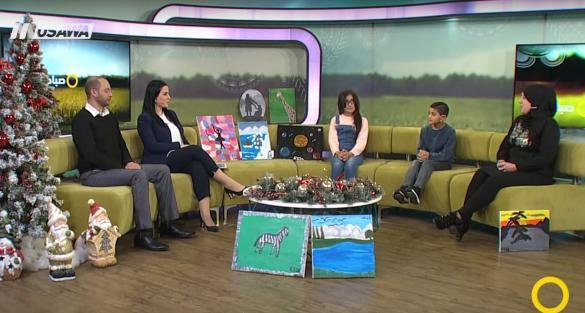 قناة مساواة: لقاء تلفزيوني مع طلاب الشافعي المشاركين في معرض الفن التشكيلي