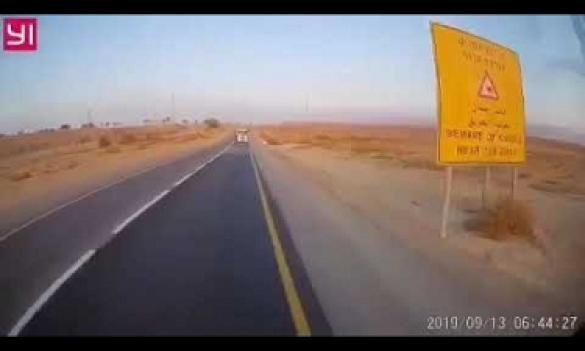 شاهدوا: لحظة إصطدام شاحنتين وجها لوجه بالجنوب