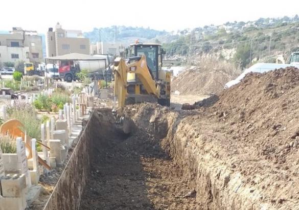 صور وفيديو: من أعمال التجهيز والصيانة في منطقة المقبرة بالحارة الشرقية