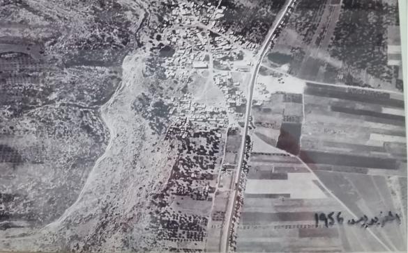صورة جوية نادرة لقرية الفريديس تعود لعام 1956