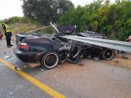 إصابة خطيرة في حادث طرق مروع قرب جفعات عادة